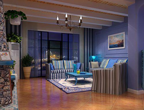 地中海风格一居室客厅装修图片欣赏