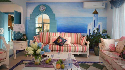 地中海风格四居室客厅装修图片欣赏