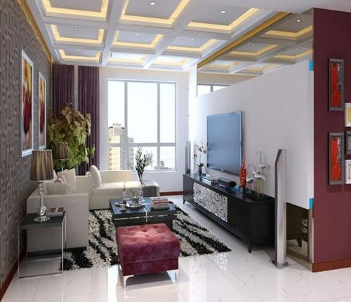 地中海风格三居室客厅装修效果图欣赏