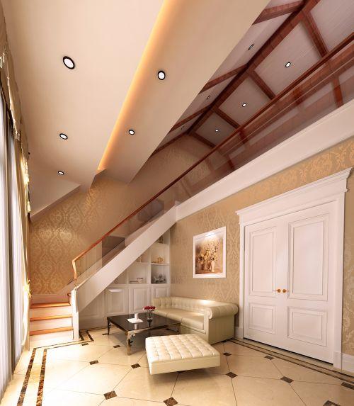 混搭风格六居室客厅吊顶装修效果图欣赏