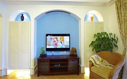混搭风格三居室客厅电视柜装修效果图大全