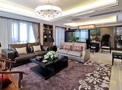 混搭风格三居室客厅装修效果图欣赏
