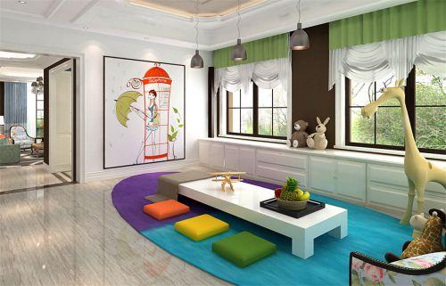 混搭风格六居室客厅装修图片