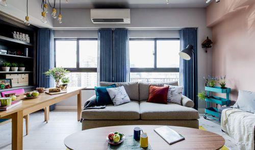 雅致混搭风格客厅沙发装修实景图