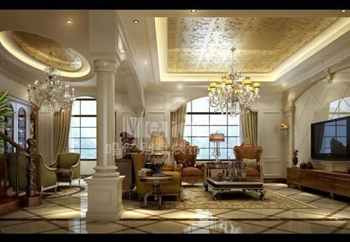 混搭风格四居室客厅窗帘装修效果图