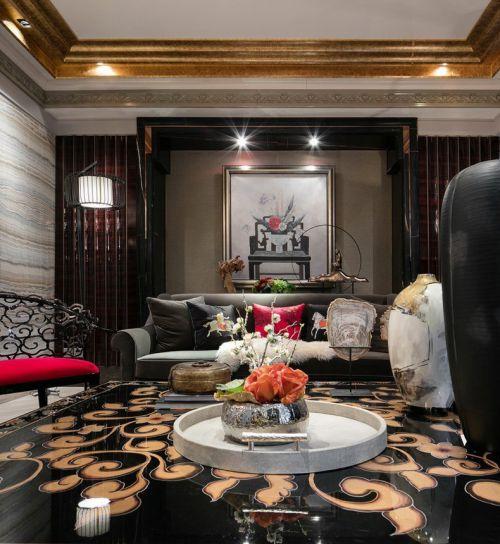 个性家装混搭风格客厅背景墙装修设计