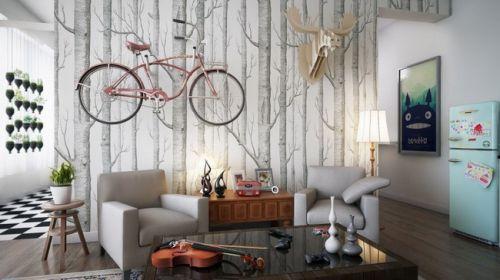 混搭风格二居室客厅装修效果图大全
