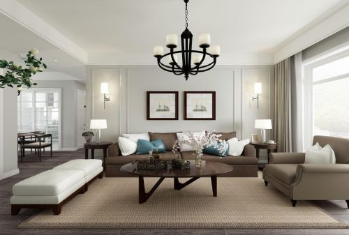 客厅吊顶设计简美风格装修效果图