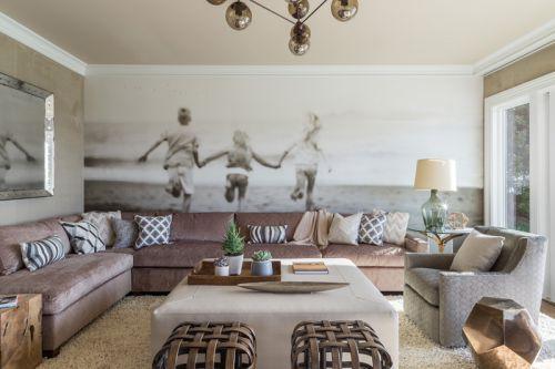 舒适休闲混搭风格客厅背景墙效果图