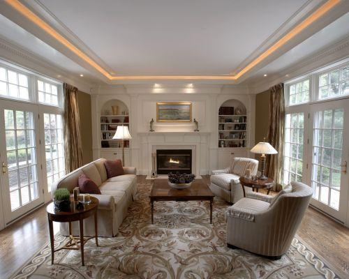 混搭风格白色别墅客厅效果图