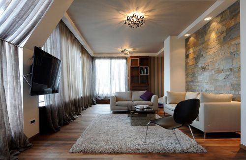 时尚气质混搭风格客厅灯具装修图片