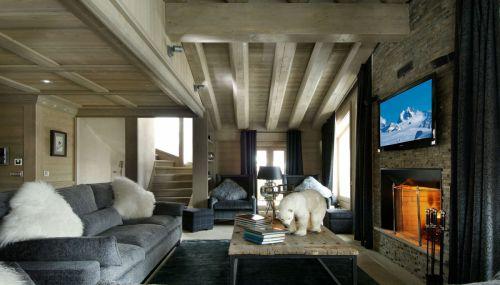 混搭风格复式灰色客厅效果图
