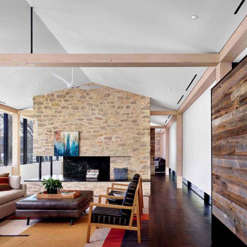 混搭风格休闲客厅背景墙装修效果图