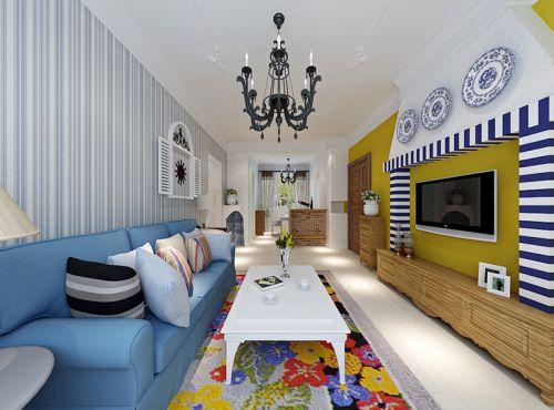 混搭风格三居室客厅灯具装修效果图