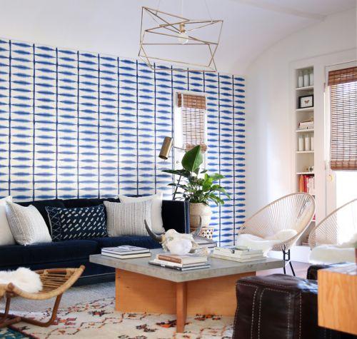 混搭风格精致客厅创意背景墙设计图