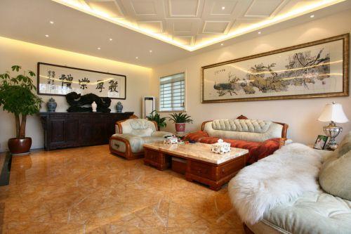 混搭风格四居室客厅照片墙装修效果图欣赏