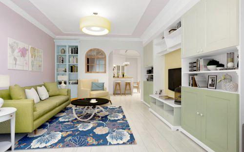 混搭风格二居室客厅电视柜装修图片