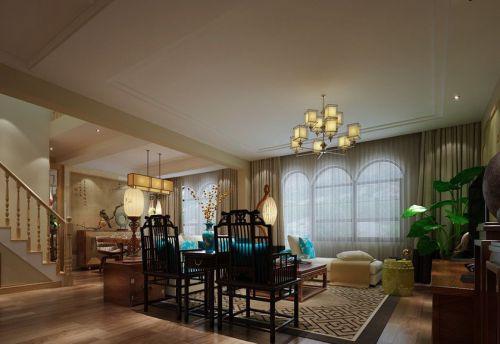 混搭风格四居室客厅窗帘装修效果图欣赏
