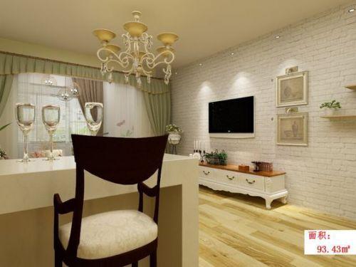 混搭风格二居室客厅吧台装修图片