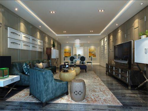 混搭风格四居室客厅茶几装修效果图欣赏