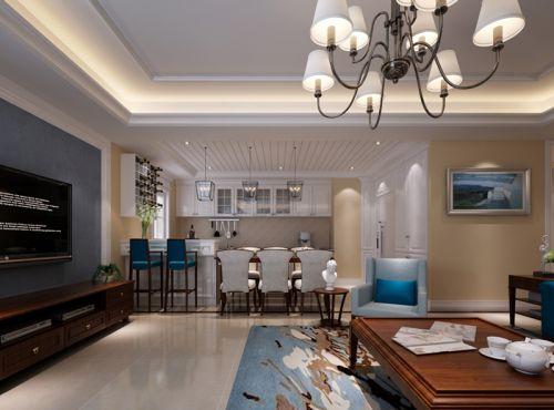 混搭风格三居室客厅灯具装修效果图大全