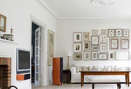 混搭风格小户型白色照片墙diy装修设计图