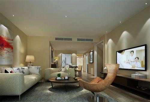 混搭风格五居室客厅背景墙装修效果图