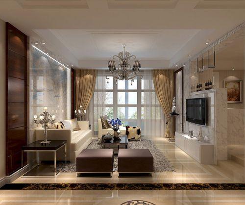 混搭风格四居室客厅吊顶装修效果图大全