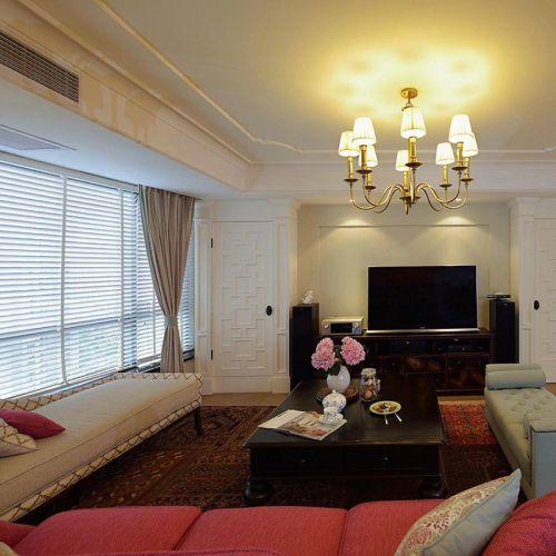 混搭风格四居室客厅装修效果图欣赏