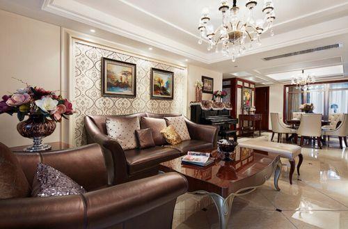 混搭风格四居室客厅装修效果图