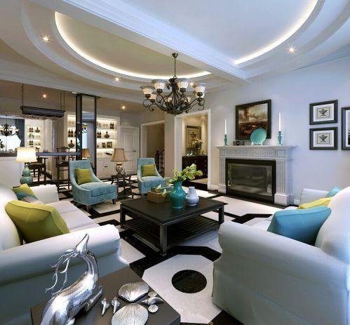 混搭风格三居室客厅装修图片欣赏
