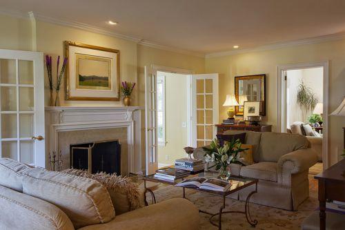 别墅混搭风格198㎡客厅效果图