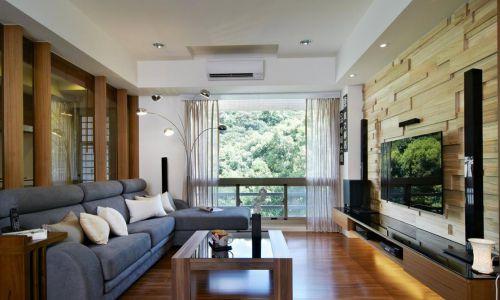 146㎡四居室混搭风格客厅沙发装修效果图