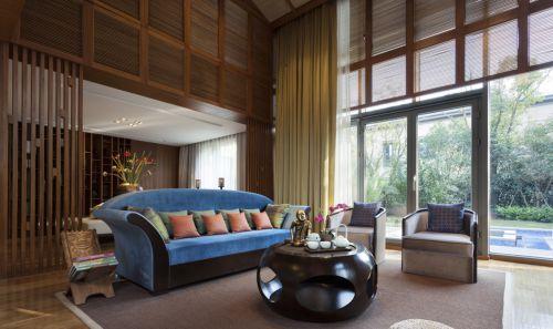 188㎡混搭风格奢华别墅客厅沙发效果图