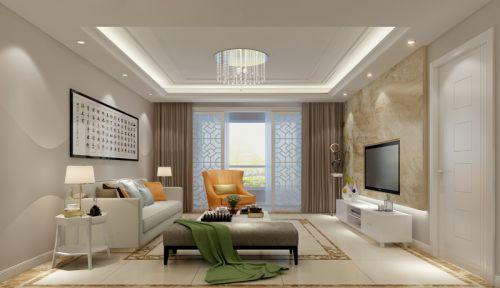 混搭风格四居室客厅沙发装修效果图大全