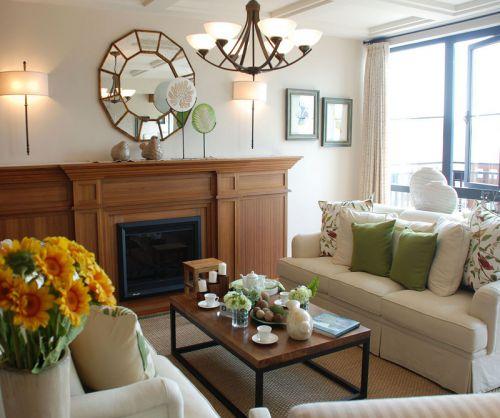 混搭风格时尚温馨客厅设计效果图