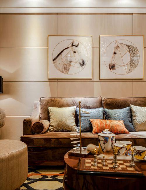 时尚温馨混搭风格客厅设计效果图