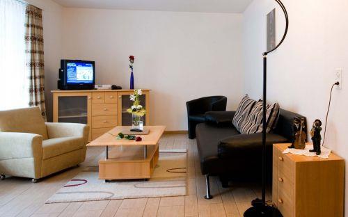 一居小面积开间混搭风格客厅楼房装修图片大全