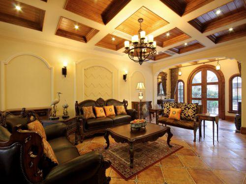 大气别墅客厅沙发设计简美风格装修效果图