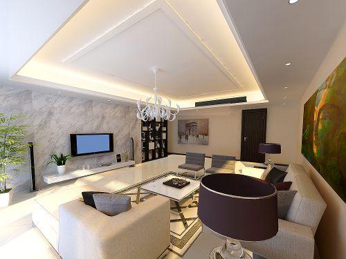 混搭风格五居室客厅吊顶装修效果图