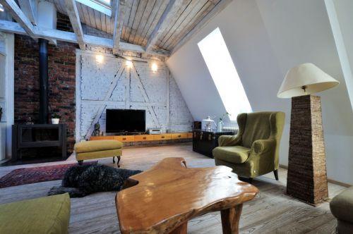复古混搭风格复式温暖客厅装修效果图