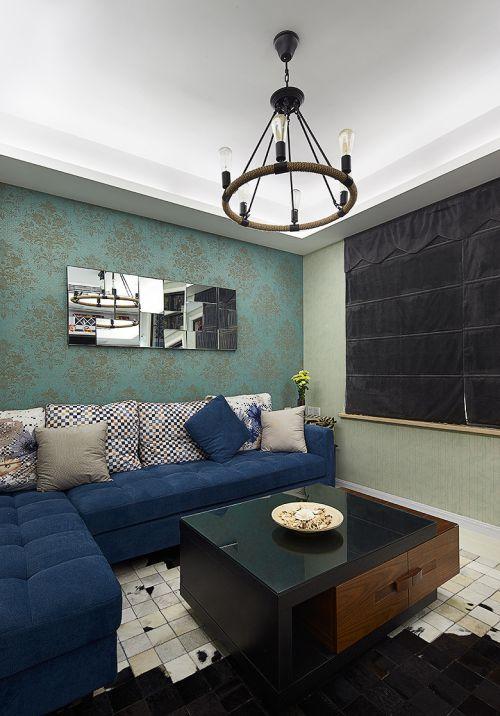 典雅精致混搭风格客厅沙发装修图片