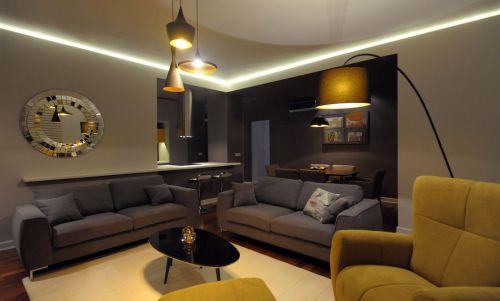 雅致混搭风格客厅沙发图片欣赏