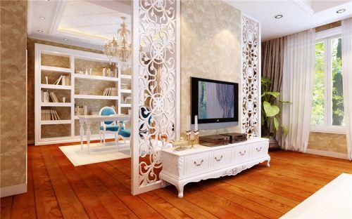 混搭风格五居室客厅背景墙装修效果图欣赏