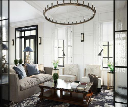 混搭风格三居室客厅飘窗装修效果图大全