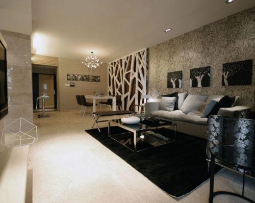 混搭风格二居室客厅吧台装修效果图欣赏