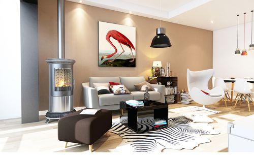 混搭风格二居室客厅隔断装修效果图欣赏