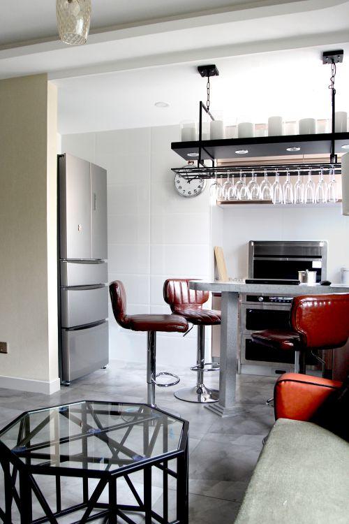 混搭风格二居室客厅灯具装修图片