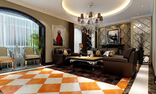 混搭风格三居室客厅吧台装修效果图大全