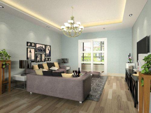 混搭风格四居室客厅吊顶装修效果图